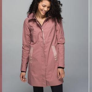 RARE Lululemon Rain On Jacket  Bark Berry
